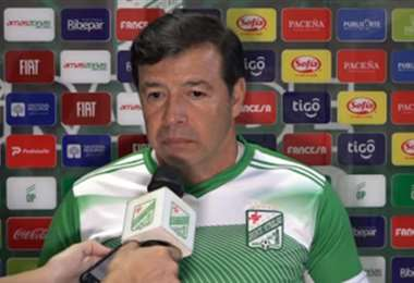 Erwin Sánchez, entrenador de Oriente Petrolero. Foto: Oriente P.