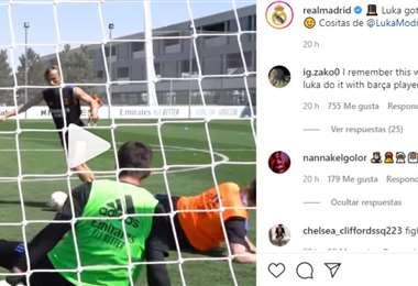 Captura de pantalla del video publicado por el Real Madrid en Instagram