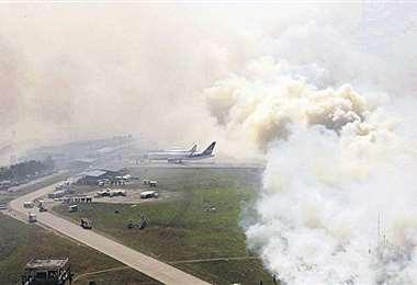 En un sobrevuelo se captó la magnitud del incendio en la zona norte