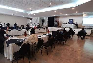 La reunión de la Asociación de Municipalidades de Bolivia I AMN.
