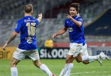 Martins celebra el gol decisivo que marcó ante Londrina el viernes. Foto: Cruzeiro