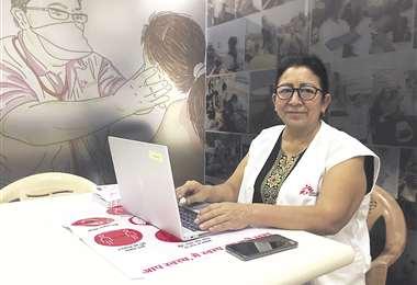 Morales coordinaba las intervenciones de un equipo multidisciplinario en India. Foto: MSF