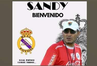 Con este arte, Real Potosí anunció la incorporación de Marco Sandy