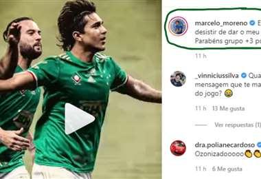 Captura de pantalla del video que publicó Marcelo Martins en Instagram
