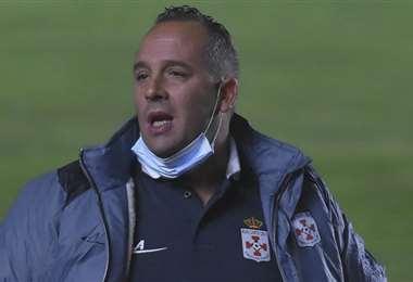 David Perdiguero, director técnico de Real Santa Cruz. Foto: APG Noticias