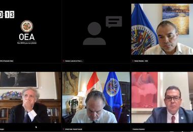 La sesión del Consejo Permanente de la OEA I Captura.
