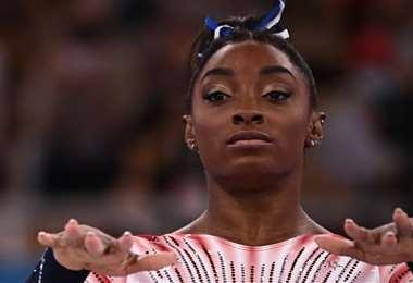 Simone Biles no pudo repetir su éxito alcanzado en Río 2016. Foto: AFP