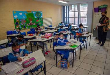 México retorna a clases presenciales tras 17 meses. Foto: EL PAÍS