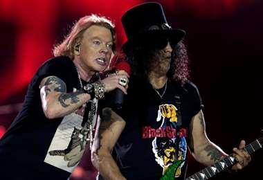 Axl y Slash, íconos del grupo roquero