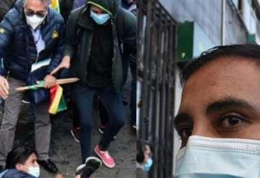 Izq.: el  exasambleísta de La Paz, Gustavo Torrico. Dcha.: el diputado Astorga