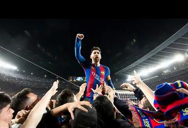 Barcelona rindió un homenaje a Lionel Messi. Foto. Internet
