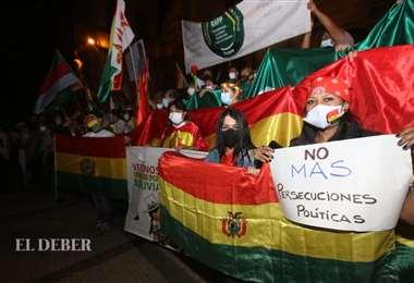 La marcha culminó en la plaza 24 de Septiembre.