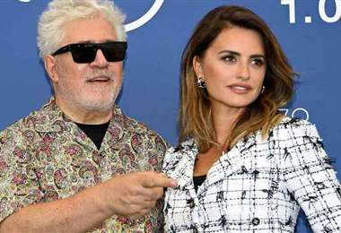 Pedro y su musa Penélope Cruz