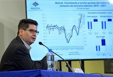 El ministro Marcelo Montenegro relievó el desempeño de la economía