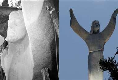 Monumento al Cristo Redentor en el segundo anillo de la ciudad de SantaCruz. Foto: EL DEBE