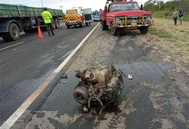 El aparatoso accidente ocurrió temprano este jueves /UUBR