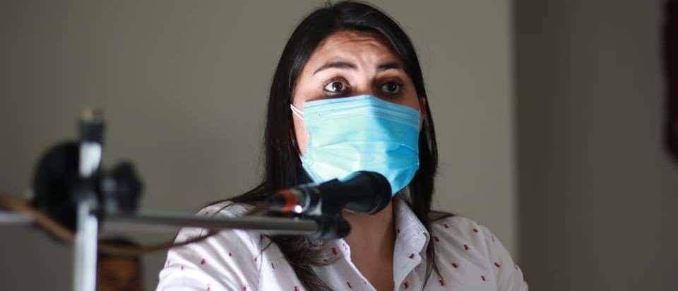 La senadora opositora Andrea Barrientos