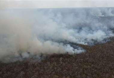 San Matías registra tres incendios activos. Foto: Gobernación
