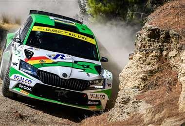 Marco Bulacia es candidato al título en el Rally de Grecia. Foto: WRC