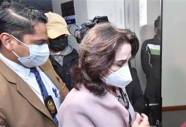 María Doria cuando llegó a La Paz