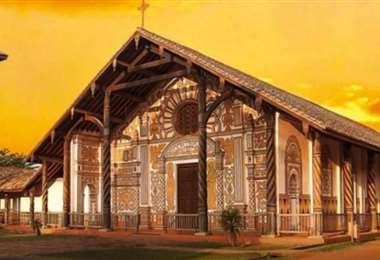 Templo jesuítico de Concepción, uno de los sitios más visitados en el departamento cruceño