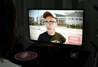 El británico Jason Lighfoot es uno de los youtubers que defiende a China