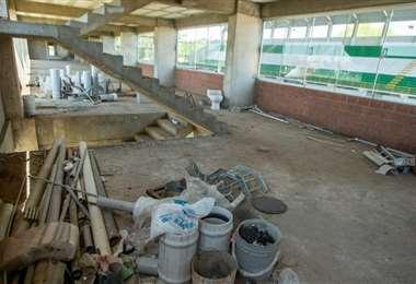El escenario deportivo no se encuentra en buenas condiciones. Foto: SDD