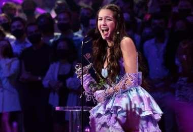 Olivia Rodrigo, durante su actuación en los MTV Video Music Awards