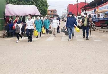 Brigadas de vacunación en Yapacaní. Foto: Soledad  Prado