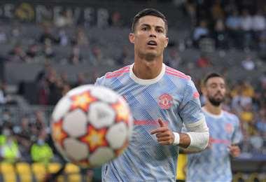 Cristiano Ronaldo, delantero del Manchester United. Foto. AFP