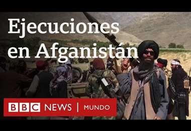 La BBC obtiene imágenes que muestran que los talibanes están matando civiles en Afganistán