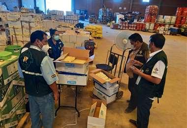 Agroquímicos que fueron observados (Foto: Senasag)