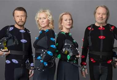 ABBA, en la imagen promocional de sus nuevas canciones.