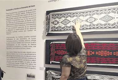 Tejidos expuestos en el museo