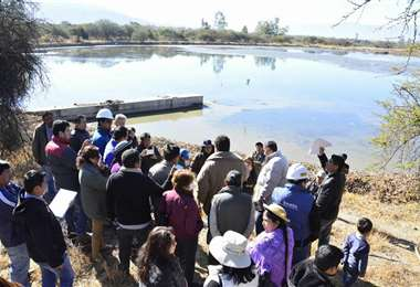 Lagunas de oxidación en San Luis