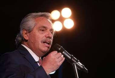 Presidente de Argentina, Alberto Fernández. Foto: La Nación