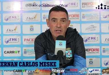 Hernán Meske, entrenador de Blooming.