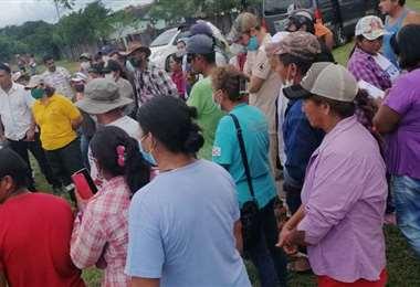 En abril los campesinos fueron desalojados de la comunidad de Roboré.
