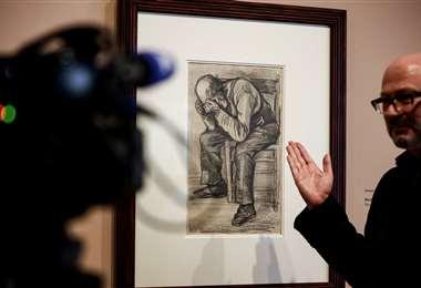 Exponen cuadro de Van Gogh por primera vez. Foto: AFP