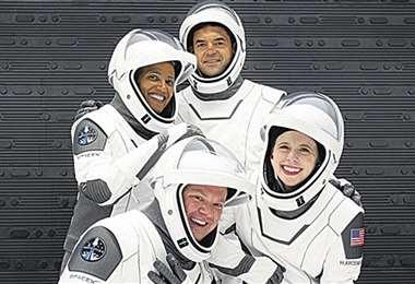 Los cuatro que están en órbita