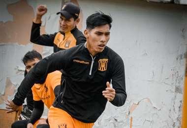 Jeyson Chura, delantero de The Strongest. Foto. The Strongest