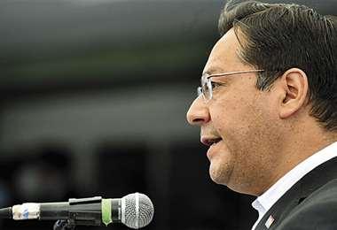 El presidente Luis Arce