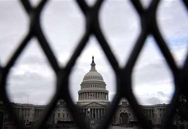 Capitolio de EEUU en alerta por acto de apoyo a quienes lo invadieron en enero. Foto AFP