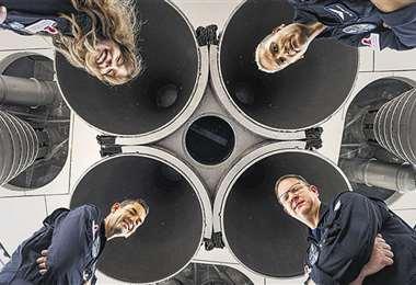Los cuatro tripulantes del SpaceX que hacen historia en el espacio