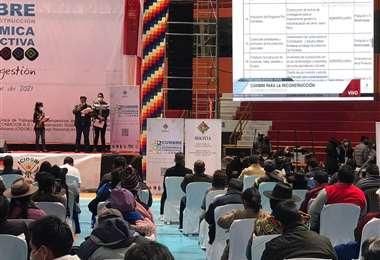 Cumbre de reconstrucción económica realizada en Potosí