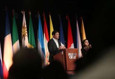 El discurso de Fernando Hurtado inauguró el evento/Foto Ipa Ibáñez
