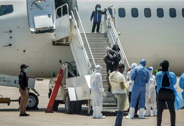 Migrantes haitianos deportados de Estados Unidos