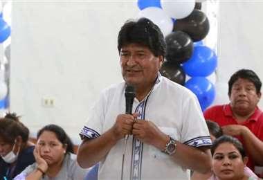 Evo durante una anterior visita a Santa Cruz. Foto: JC Torrejón