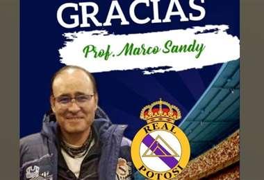 Fotografía que publicó Real Potosí en su cuenta de Facebook