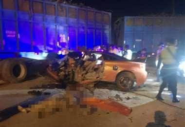Accidente con muerte en Santa Cruz